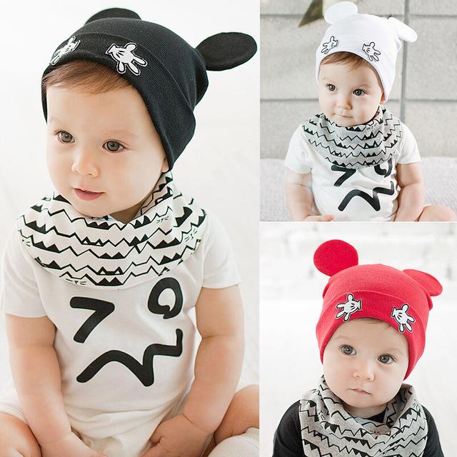 Дети дети хлопок мультфильм точка ухо шапки мальчики девочки весна шляпа младенцев детские мягкие теплые шапочки высокое качество