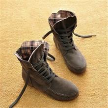2016 de Otoño e Invierno Botas Botas de Nieve para Las Mujeres y de Los Hombres de Martin Botas Botas de Cuero de Gamuza Zapatos Parejas Algodón PA875884(China (Mainland))