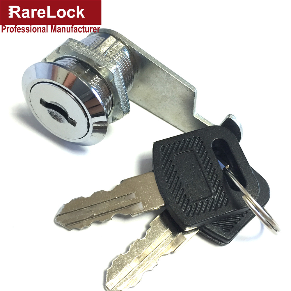 Rarelock 4 Size Security Drawer Cam Cylinder Door Mailbox Cabinet Tool Box Lock 2 Keys Hardware Locks(China (Mainland))
