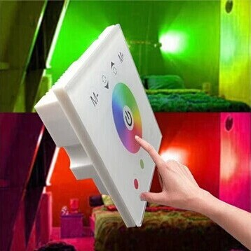 12V/24V RGBW LED Controller ,Touch panel Controller Led Strip Wall Controller New Free shipping(China (Mainland))