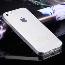 For iPhone 5S Soft Clear Cases 0 33MM Super Slim TPU Gel Silicon Phone Case For