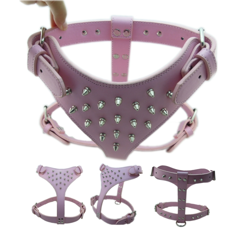 Free Shipping 2014 new Fashion Metal Spikes Dog harness for Bulldog Retail(China (Mainland))