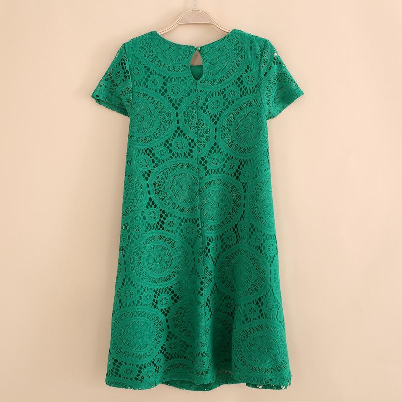 Women Summer Dress 2015 Womens New Fashion Vintage Bohemian Lace Plus Size Loose Party Evening Elegant Bottom Mini Dresses(China (Mainland))