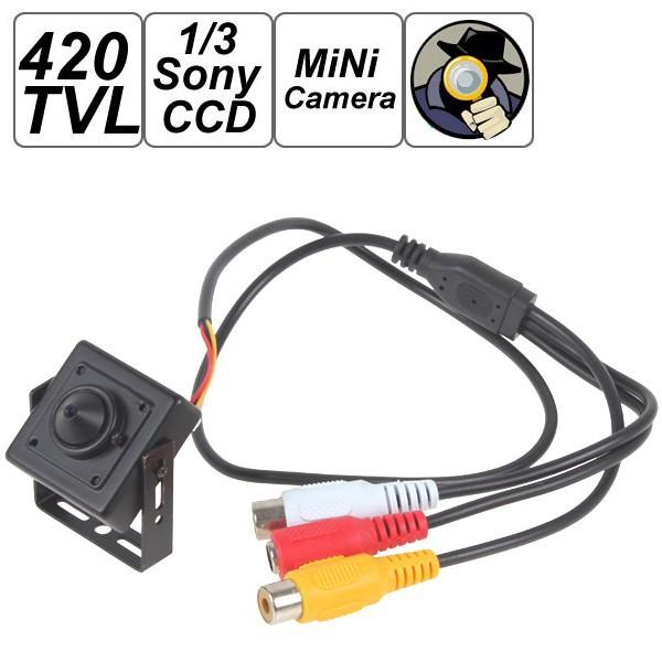 анти помех 420 ТВЛ sony ccd мини-обскуры скрытого видеонаблюдения, камеры видеонаблюдения безопасности цвета видео с аудио