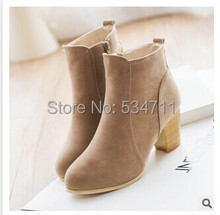 Free shipping Spring and autumn Europe and America women's boots with thick ankles a naked woman Martin boots(China (Mainland))