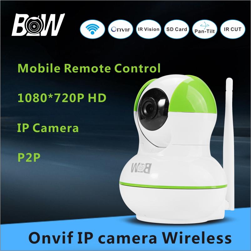 720P IP Camera HD Wifi Mini CCTV Camera Baby Monitor Security TF Card Surveillance Camera Mobile APP Remote Control BWIPC012GR(China (Mainland))