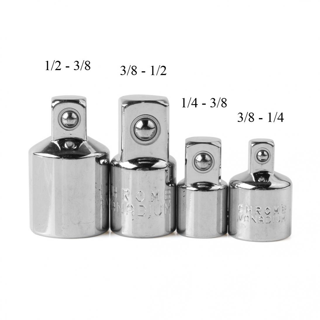 4pcs 14 38 12 drive socket adapter converter reducer air