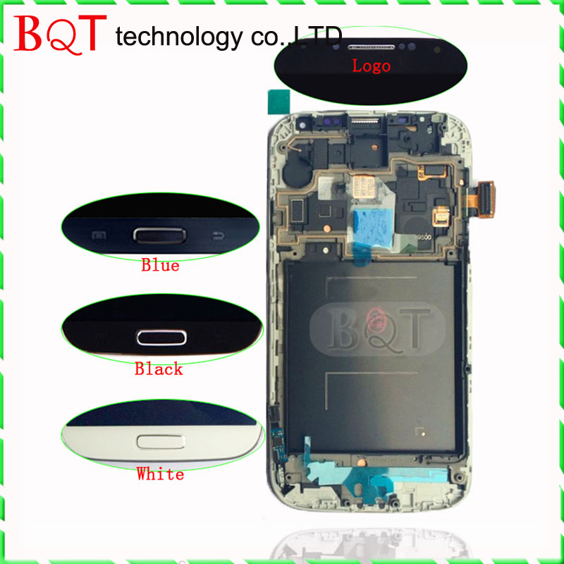 Original i9500 LCD For Samsung Galaxy S4 LCD Display With Touch Screen Digitizer Assembly With Frame free shipping(China (Mainland))