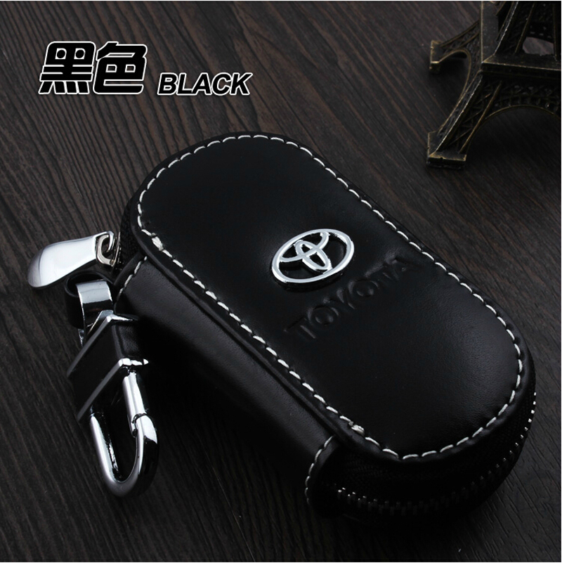 For Toyota Crown Corolla Camry RAV4 Yaris Hilux Prius Highlander Vios Genuine Leather Car Key Case Cover KeyChain accessories<br><br>Aliexpress