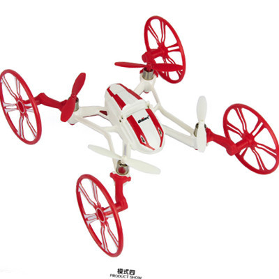 New electric drone camera remote control airplane 2.4G remote control toys 2G SDRAM quadrocopter with camera 4 shapes changing(China (Mainland))