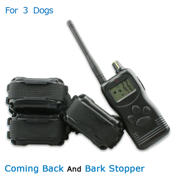 Reliable 1000m Remote Training Collars Electric Dog Safe Equipment Lcd 100lv E-Collar For 3 Dogs Humanized Training(China (Mainland))