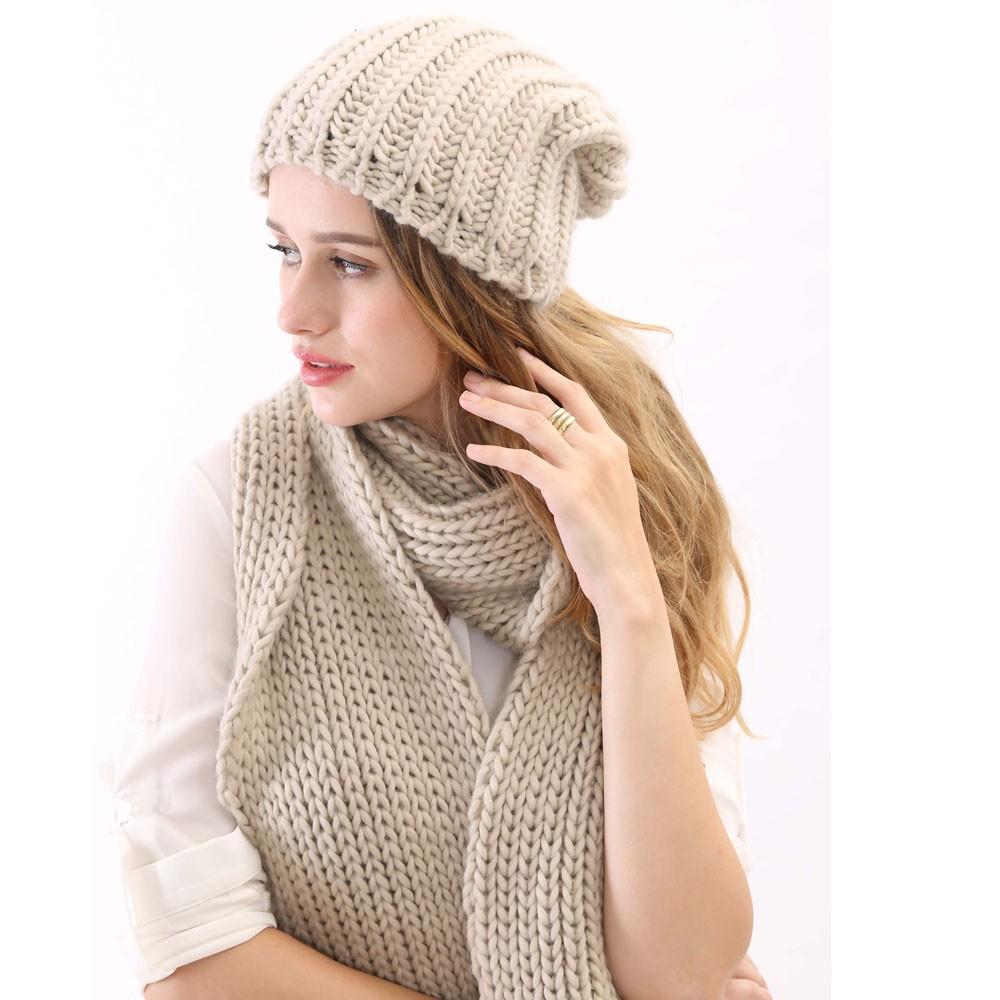 2015 горячая распродажа и высокое качество серый цвет трикотажные длинный толстый теплый англии стиль женские шляпу и шарф комплект для зима осень