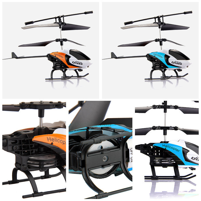 Top Quality 3.5CH Channel S210 Helicopter Gyro IR RC Radio Remote Control Heli Children Blue and Orange color Free Shipping(China (Mainland))
