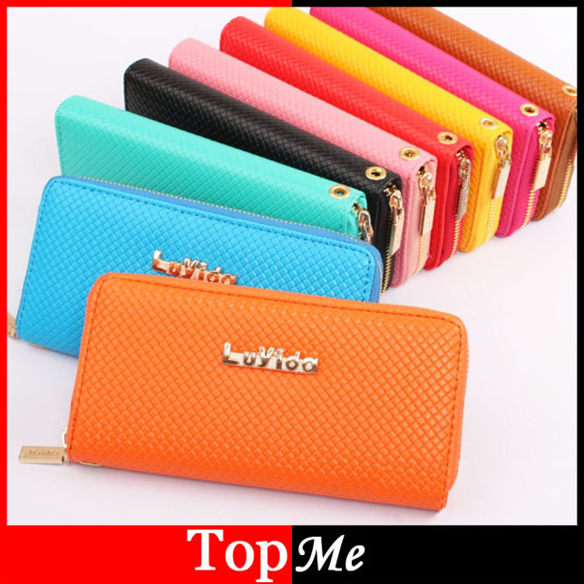 New arrivals Fashion women Zipper wallet cards holders Soft PU leather lady money clips coin purse wholesale clutch wallets
