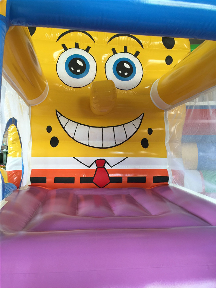 Spongebob bounce house inflatable bouncer jumping moonwalk bouncy castle jumper trampoline toys for kids(China (Mainland))
