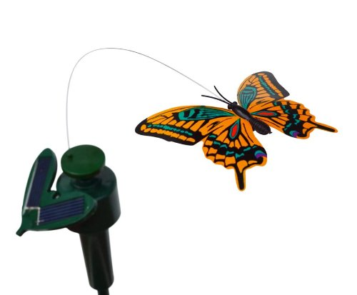 Fluttering Butterfly Solar Yard Stake Great Children Solar Toy Ship in Random Color(China (Mainland))