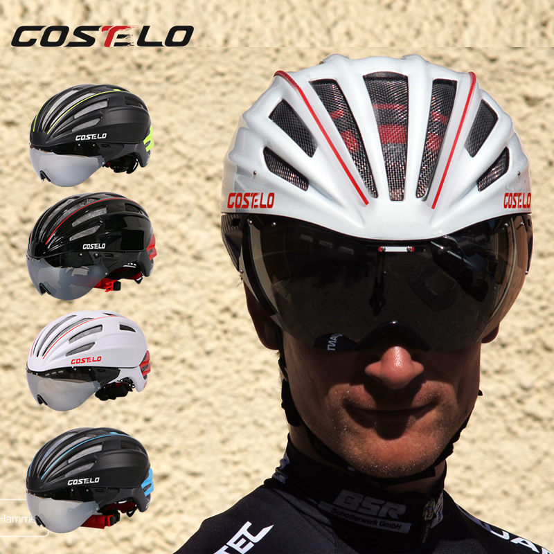 Costelo Cycling Helmet 4 Colors MTB Mountain Road Bike Helmet Bicycle Helmet Casco Speed Airo RS Ciclismo Goggles Bicicleta(China (Mainland))