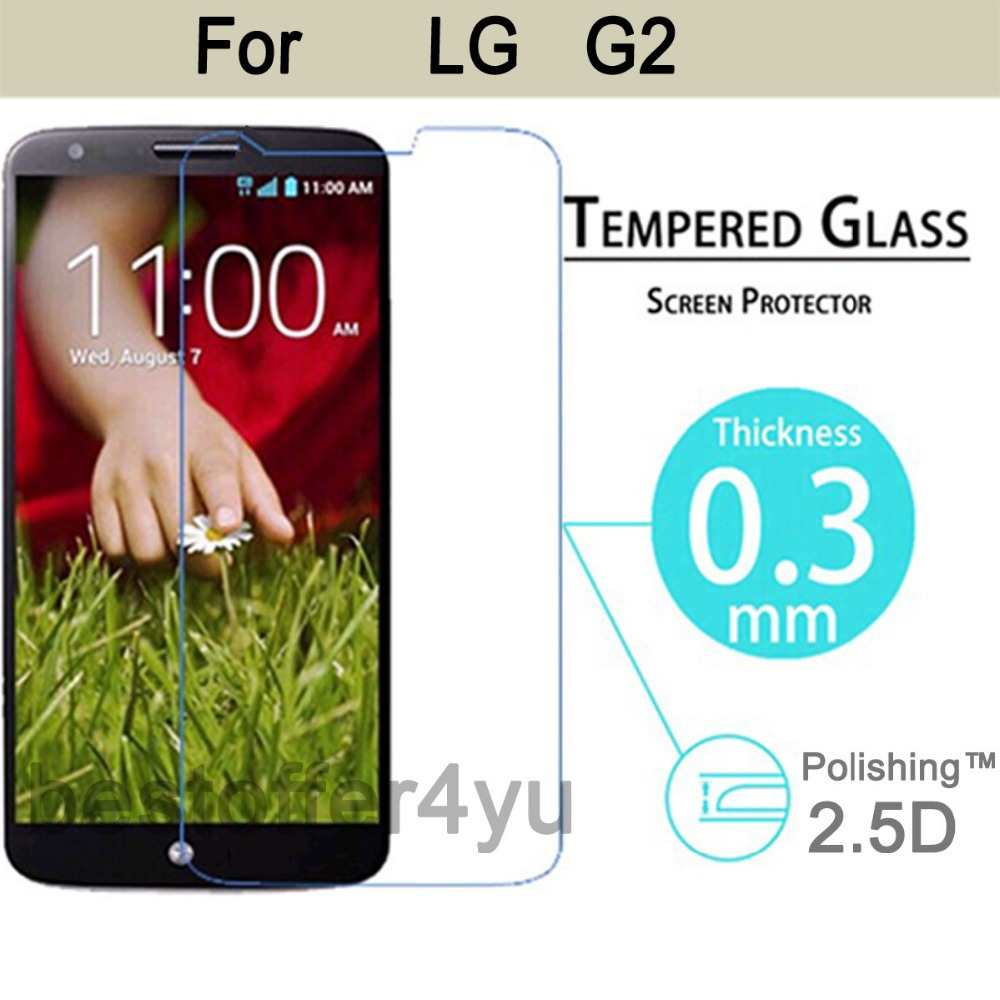 Explosion-proof Anti Shatter Premium Tempered Glass Screen Protector Guard LG Optimus G2 D802 - Xinghai store