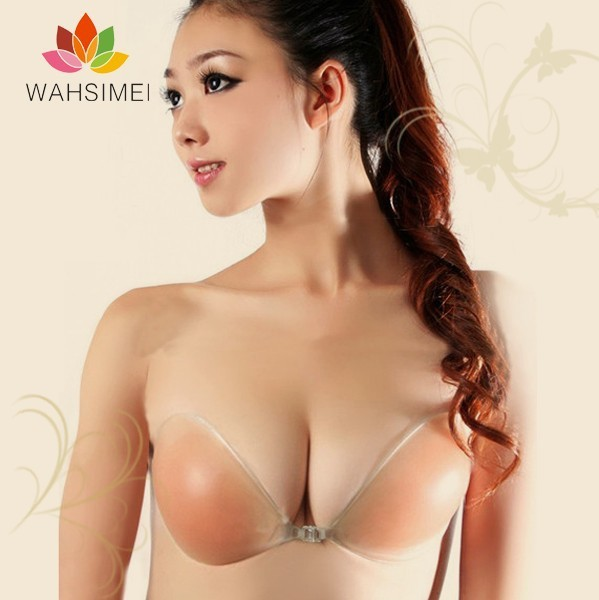 Best summer produtcs!The best invisible cleavage silicon bra,strapless bra with self-adhesive bra style