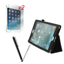 "4in1 Luxury Folio Stand Holder Leather Case Magnetic Cover +2x Films +1x Stylus For Apple iPad Air iPad5 5 Air2 2 iPad6 6 9.7""(China (Mainland))"