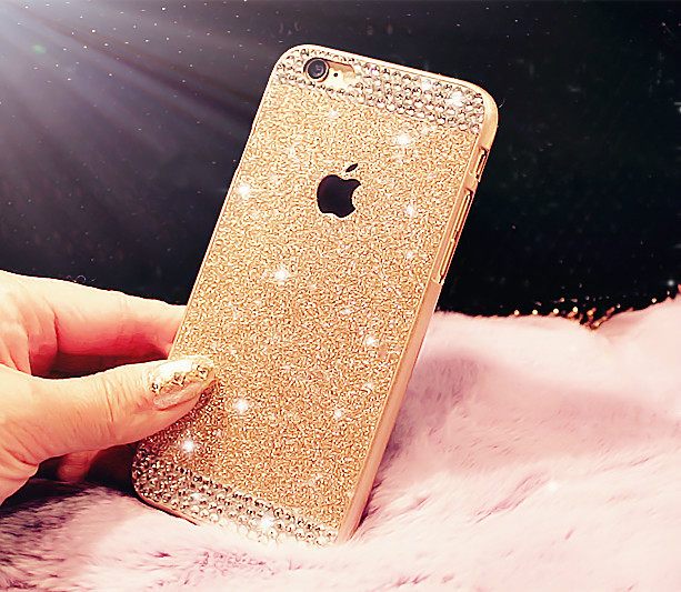 Top Fashion Glitter powder Rhinestone bling phone case for iphone 5 5s luxury diamond clear crystal back cover Sparkle cover(China (Mainland))