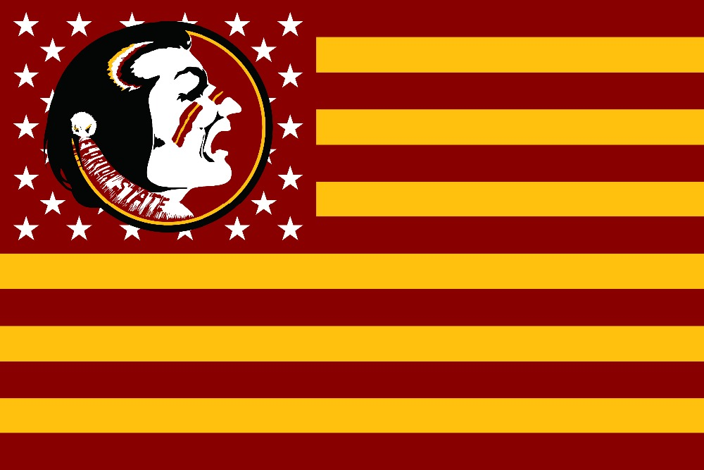 Florida State Seminoles with Modified US Flag 90x150cm metal grommets 52023(China (Mainland))