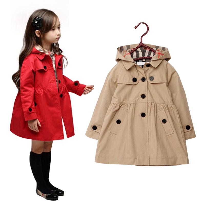 Hot Baby Clothing Baby Girls Coats Spring Autumn Kids Girls Coat Cotton Jacket Children coats Costumes 4 Colors Free shipping(China (Mainland))