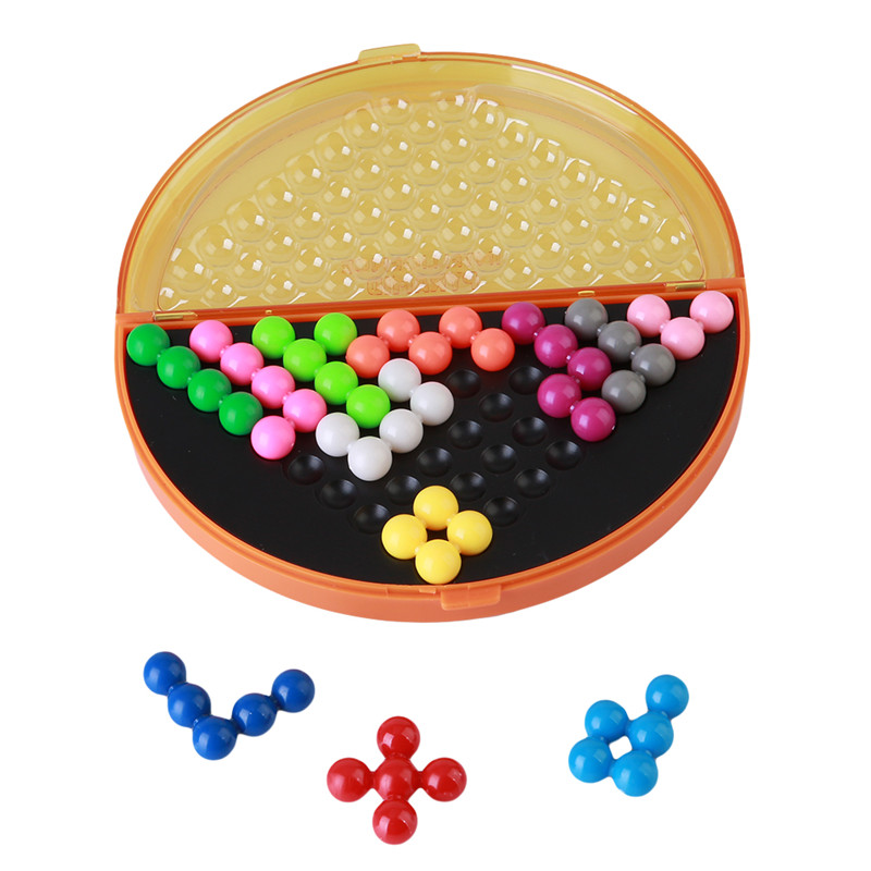 Classic puzzle pyramid plate IQ pearl logical mind game Brain Teaser educational toys for children pyramid beads puzzle CX838744(China (Mainland))