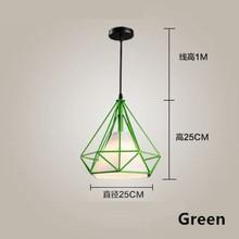 GZMJ современный металлический светодиодный подвесной светильник Лофт Декор E27 клетка из железной проволоки подвесной светильник черный/бел...(China)