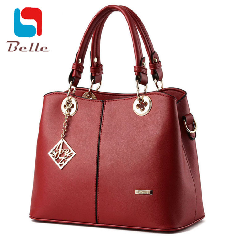 Women shoulder messenger bags handbags women famous brands women leather handbags 2016 fashion high quality top-handle bags(China (Mainland))