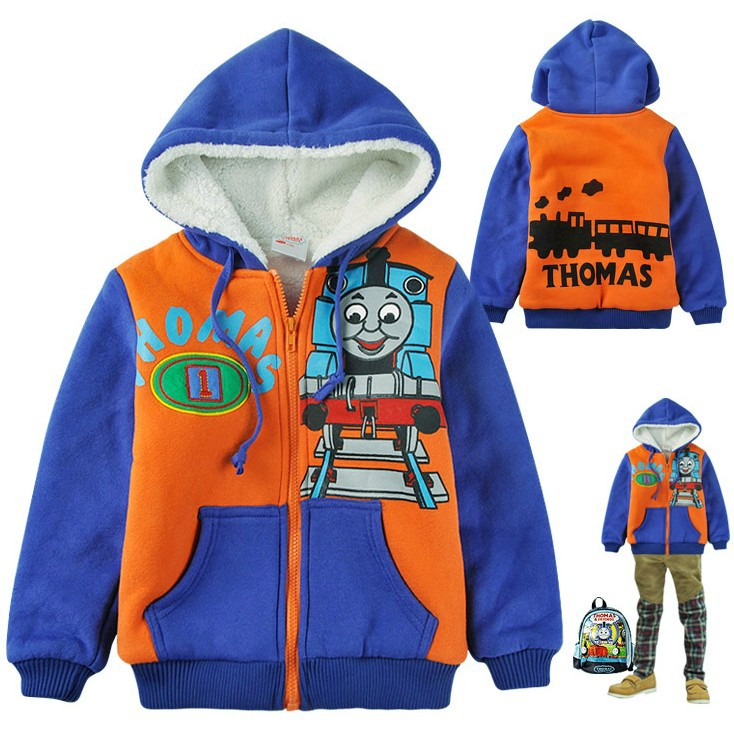 style winter boys cotton-padded jackets thomas child coats thick fleece children outerwear 2--9 years - Easy to Buy Happy Shopping Outlet store