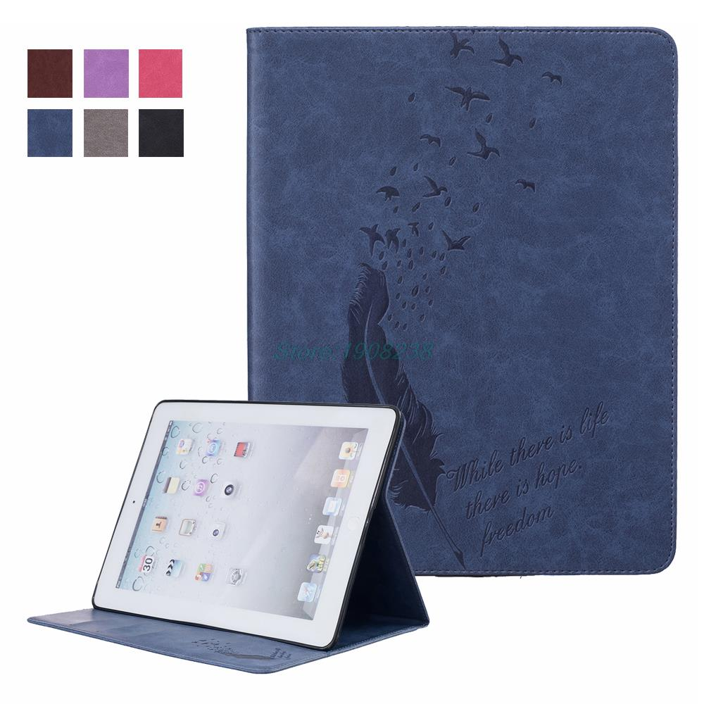 New Embossing Premium PU Leather Cover For iPad 2 iPad 3 iPad 4 Case Ultra Slim Flip Case For Apple iPad 2 3 4 with Card Slots(China (Mainland))
