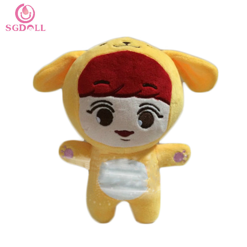 "[SGDOLL] Korean KPOP Super Stars EXO ParkChanYeol 21cm/8"" Plush Toys Stuffed Doll Fanmade Goods Gift Collection 16080407(China (Mainland))"
