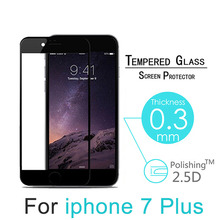 i7 Black/White Full Cover Explosion Proof Premium Tempered Glass Screen Protector For iPhone 7 4.7″ 7 Plus 5.5″ Screen Guard