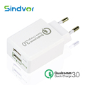 Sindvor Dual Usb Charger Universal Quick Charge 3 0 Power Adapter EU US Plug Travel Wall