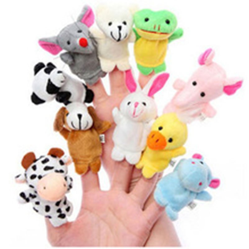 Mini Stuffed Animals Toy Puzzle Parent-child Toys Small Animal Finger Even To The Baby Story-telling Helper Hand For Baby(China (Mainland))