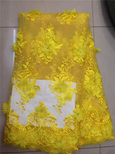 Buy swiss voile lace /Handmade Beads Yellow african swiss lace fabric 5yards one piece for wedding (ts for $63.18 in AliExpress store