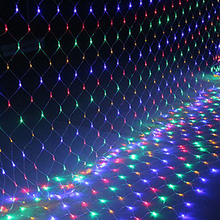 1.5*1.5 M LED curtain lights with 96 leds string light with plug Christmas holidays New year wedding party decoration led lights(China (Mainland))