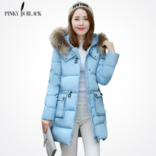 Winter jacket women 2016 new large fur outerwear long down cotton-padded jacket coat wadded jacket winter coat women clothing