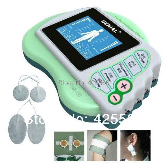 4 Channels Electrical Stimulator Body Relax Massager Pulse Electronic Massage Equipment TENS For Physical Therapy(China (Mainland))