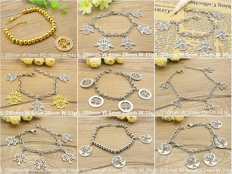 New Hot selling gold and siliver color Charm bracelet fashion Stainless steel Jewelry For Women gift(China (Mainland))