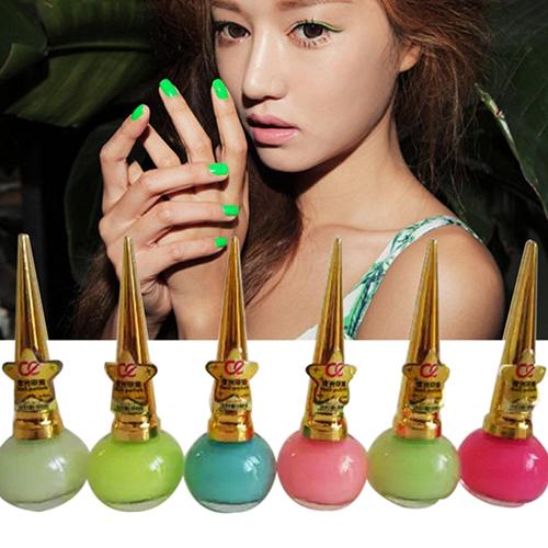 Women Candy Color Luminous Fluorescent Matte Nail Polish Glow Neon Nail Varnish(China (Mainland))