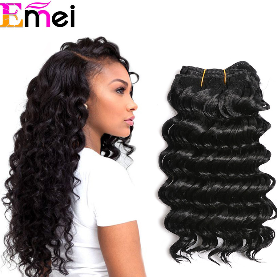 Online get cheap hair extensions curling iron aliexpress 1pcfree shipping premium now deep wave synthetic hair extension deep curly synthetic weave 10quot pmusecretfo Choice Image