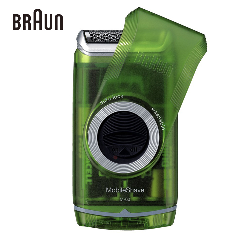 Braun Electric Shavers M60s For Men Shaving Green Portable Razors Washable High Quality Safety Razors(China (Mainland))