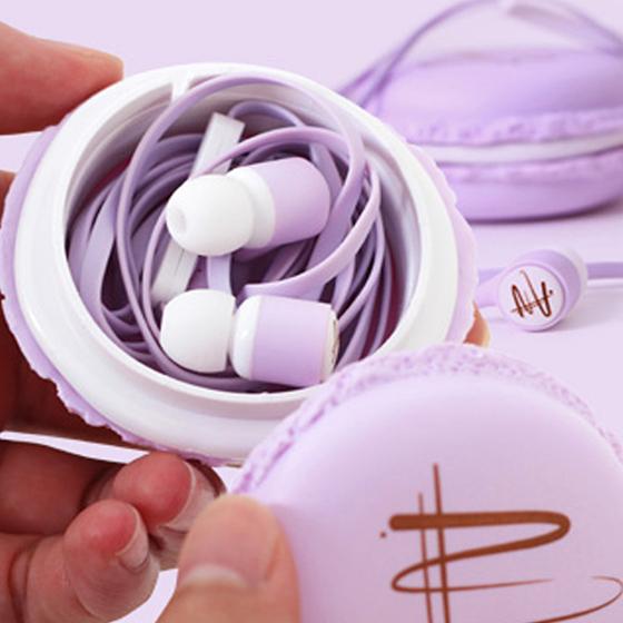 2016 Hotsale Sibilla Luminoso Amaretto Auricolari In-Ear Auricolari Stereo Headset Con Il Caso Bello Per Xiaomi Samsung iPhone