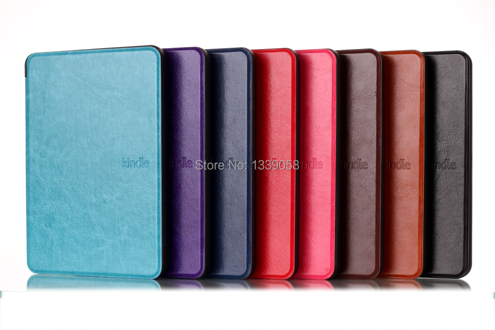 PU Leather Protective Ultra Slim Smart Cover Case For Amazon Kindle 2014 new kindle 6 inch (SEP 2014)(China (Mainland))