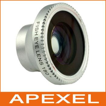 1pcs portable Detachable Fisheye lens magnetic fish eye Lens for iPhone 4 for iPhone 5 iPod Nano 4G iPad samsung CL-2