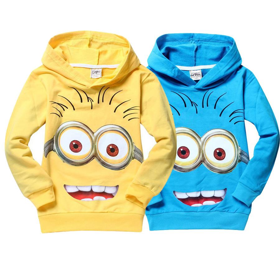 t shirt kids minions clothes children High quality despicable me 2 minion boyschild spring autumn hoodies Tops & Tees(China (Mainland))