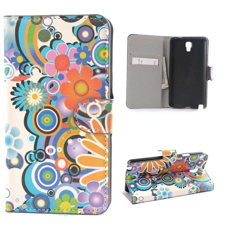 1pcs New Luxury US Pattern Flip stand card wallet Smartphone Accessories bag case skin cover For Samsung Galaxy Note 3 Neo N7505(China (Mainland))