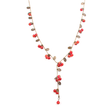 Fashion Bohemia Brand vintage Jewelry for women lovely amorous feelings Cute little cherry long necklace female 2016(China (Mainland))